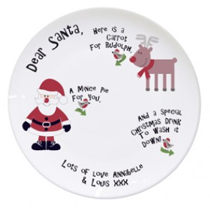 Personalised Christmas Mince Pie Ceramic Plate - Image 1