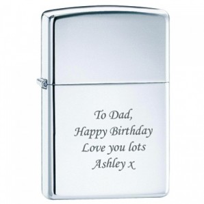 Personalised Chrome Lighter - Image 1