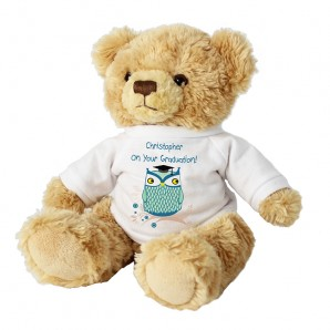 Personalised Mr Owl Message Bear - Image 1
