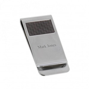 Personalised Chrome Plated Stratton Money Clip - Image 1