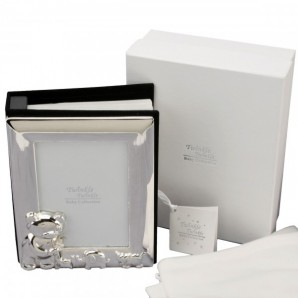 Personalised Twinkle Twinkle Silver Plated Photo Album - Image 1