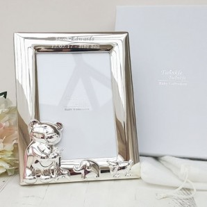 Personalised Twinkle Twinkle Silver Plated 3.5x5 Photo Frame - Image 1