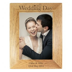 Wedding Day Engraved Photo Frame - Image 1