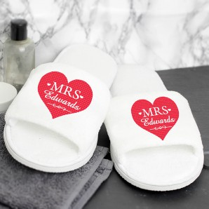 Personalised Ladies Slippers - Image 1