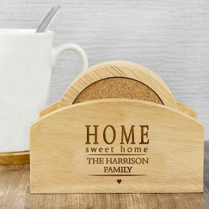 Personalised Home Sweet Home Coaster Set - Image 1