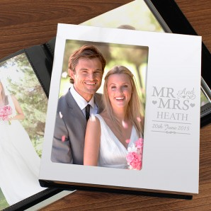 Personalised Mr and Mrs Photo Frame Album - Image 1