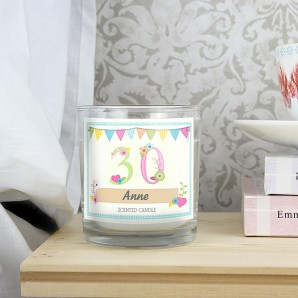 Personalised Birthday Scented Candle In A Jar - Image 1