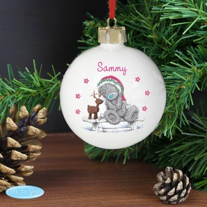 Personalised Me To You Bear Christmas Bauble - Image 1