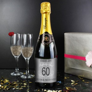 Personalised Aged Label Champagne Gift - Image 1
