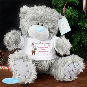 Personalised Me To You Bear With Reindeer T-Shirt - Image 1