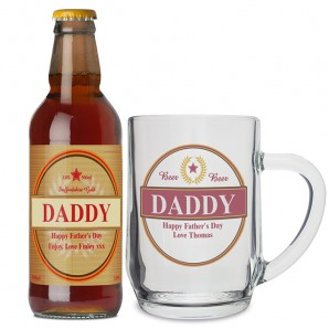 Personalised Luxury Beer and Glass Tankard Set - Image 1