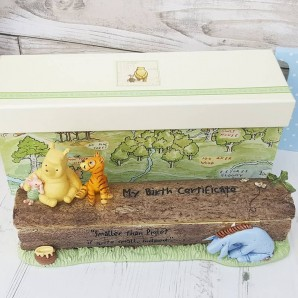 Engraved Disney Pooh Certificate Holder - Image 1