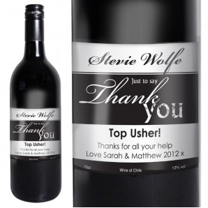 Personalised Thank You Wine - Image 1