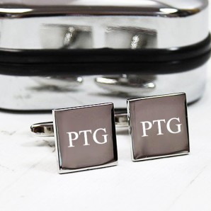 Personalised Silver Square Cufflinks - Image 1