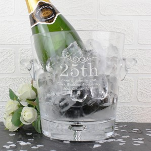 Personalised Glass Number Occasion Ice Bucket - Image 1