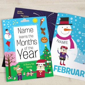 Learn The Months Of The Year Personalised Book - Image 1