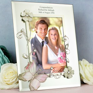 Personalised Glass Butterfly Photo Frame - Image 1