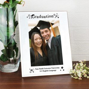 Personalised Glass Graduation Photo Frame - Image 1