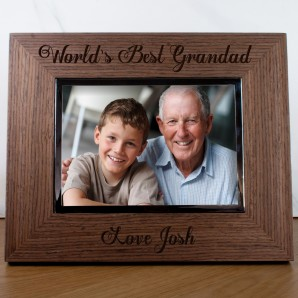 Personalised Worlds Best Grandad Photo Frame - Image 1