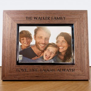 Personalised Walnut Photo Frame - Image 1
