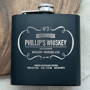 Personalised Vintage JD Inspired Hip Flask - Image 1