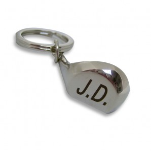 Personalised Initial Golf club Keyring - Image 1
