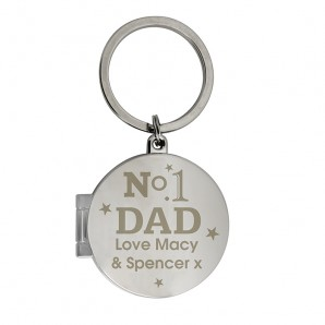Personalised No.1 Dad Locket Keyring - Image 1