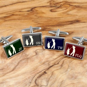 Executive Golf Cufflinks Personalised - Image 1