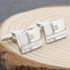 Mother of Pearl Engraved Cufflinks - Image 1
