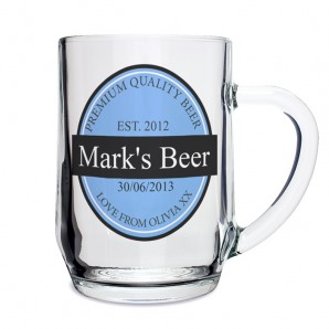 Beer Label Engraved Tankard - Image 1