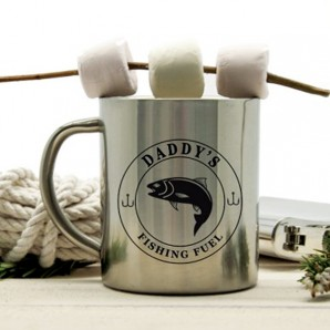 Personalised Outdoor Mug - Fishing Fuel - Image 1