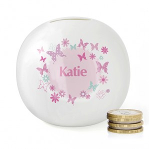 Personalised Butterfly Design Money Box - Image 1