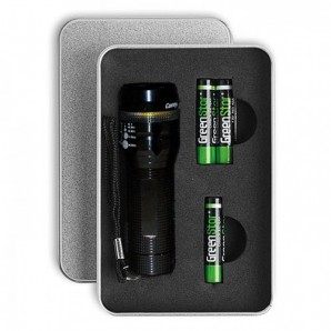 LED Torch & Engraved Gift Tin - Image 1