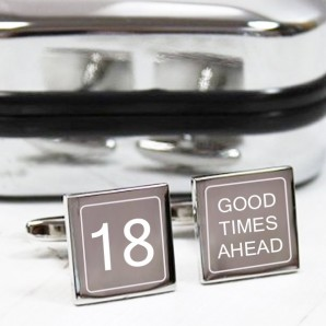 Engraved Birthday Cufflinks – Good Times - Image 1