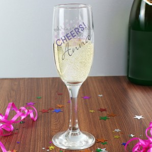Personalised Cheers Champagne Flute - Image 1