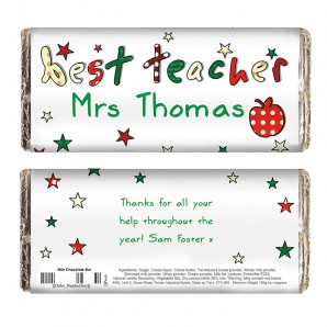 Best Teacher Personalised Chocolate - Image 1
