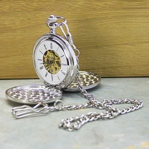 Engraved Duel Sided Pocket Watch - Image 1