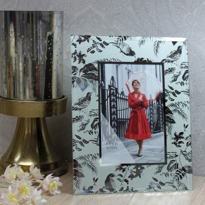 Personalised Floral Glass Photo Frame - Image 1
