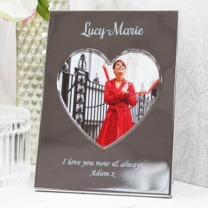Personalised Heart Shaped Name Photo Frame - Image 1