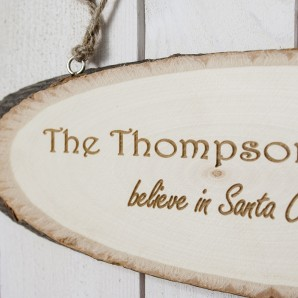 Engraved Believe in Santa Sign - Image 1