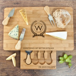 Engraved Better With Age Cheese Set - Image 1