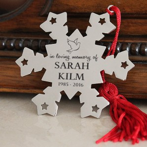 Engraved Memorial Snowflake Decoration - Image 1
