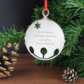 Engraved Bauble Tree Decoration - Image 1