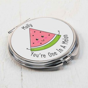Personalised One In A Melon Compact Mirror - Image 1