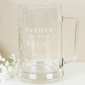 Father Of The Bride Glass Tankard - Image 1