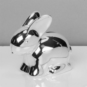 Silver Plated Rabbit Money Box - Image 1