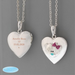 Engraved Me To You Silver Locket Necklace - Image 1
