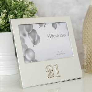 6  x 4    Milestones Birthday Frame with 3D Number   21 - Image 1