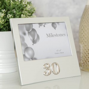 6  x 4    Milestones Birthday Frame with 3D Number   30 - Image 1