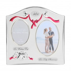 Double Aperture 40th Anniversary Photo Frame - Image 1